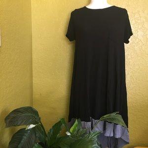 Lularoe Carly Black Grey Size Medium